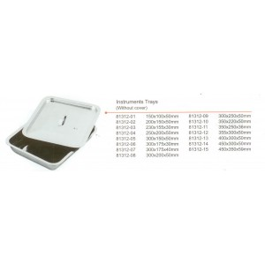 Δίσκος inox με καπάκι 400x300x50mm
