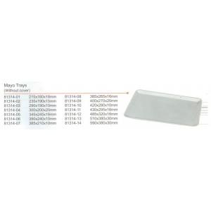 Δίσκος inox ρηχός 215x160x18mm