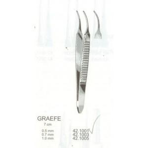 Λαβίδα οφθαλμολογική ανατομική κυρτή Graefe 0.5mm 7cm