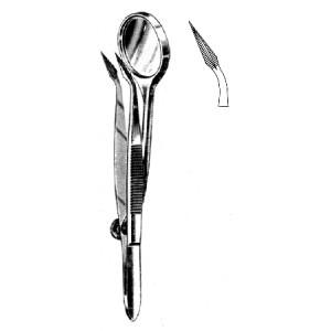 Λαβίδα Splinter με καθρεπτ. 12cm