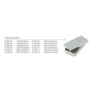 Kυτίο inox εργαλείων με κλιπς 300x180x50
