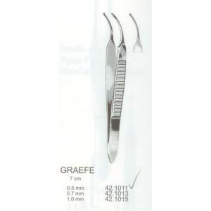 Λαβίδα οφθαλμολογική κυρτή Graefe 0.5mm 1x2 7cm