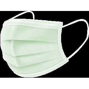 Μάσκα ιατρική Ενηλίκων με λάστιχο μ.χρ. πράσινη