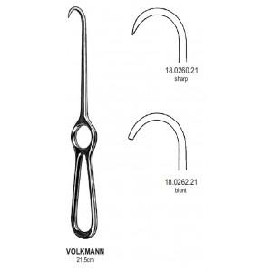 Άγγιστρο οστών Volkmann μονό αμβλύ 21,5cm